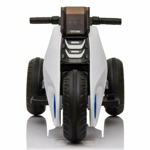 12V Electric Motorcycle Ride on Cars Toy With Drive White