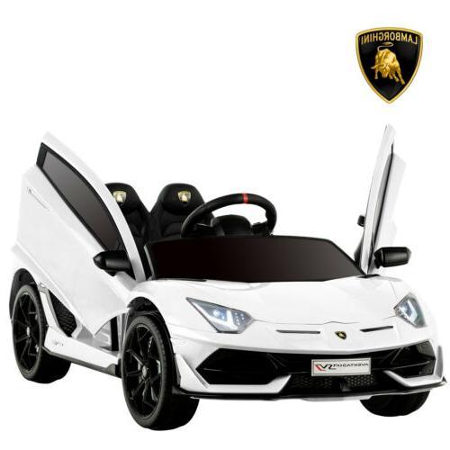 12V Electric Kids Ride On Car Lamborghini Aventador SVJ Batt