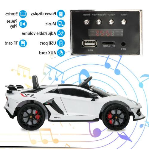 12V Electric Lamborghini White