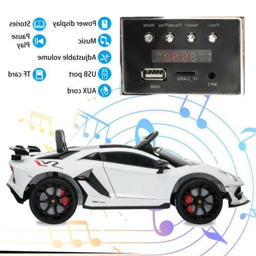 12V Electric Kids On Car SVJ Battery Powered White