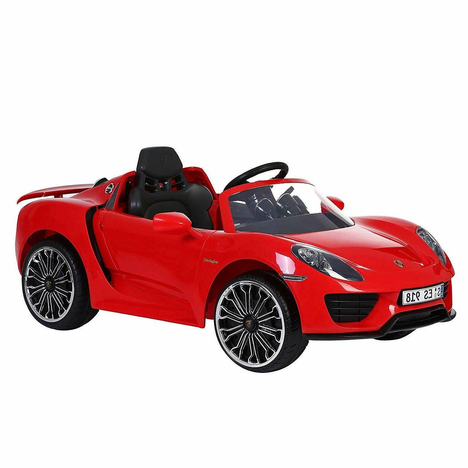 Kids Ride Sport Electric Powered Racer Red Play