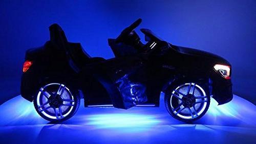 Moderno Kids Mercedes Children Ride-On Car with R/C Battery Lights + 5 Point Seat Belt + Music Player + Floor