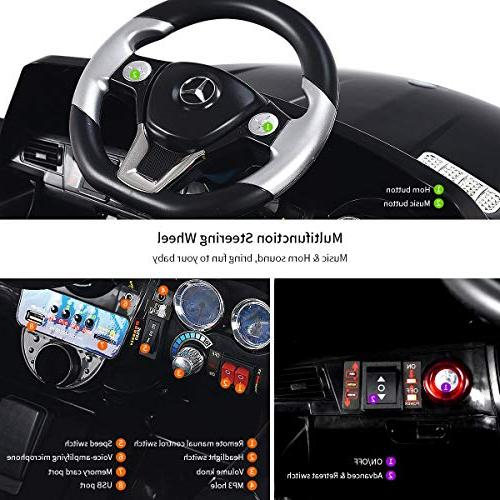 Costzon Car, Licensed Benz ML350 6V Electric 2WD Control Modes Microphone, MP3, TF, Music, Kids
