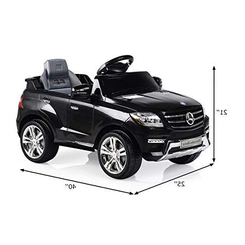 Licensed Mercedes Benz 6V Kids 2WD Powered Remote Control Modes Microphone, TF, Music, Kids