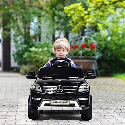 Costzon Ride On Licensed Mercedes Benz 6V Electric 2WD Powered Control with Microphone, Lights, USB, TF, Music, for