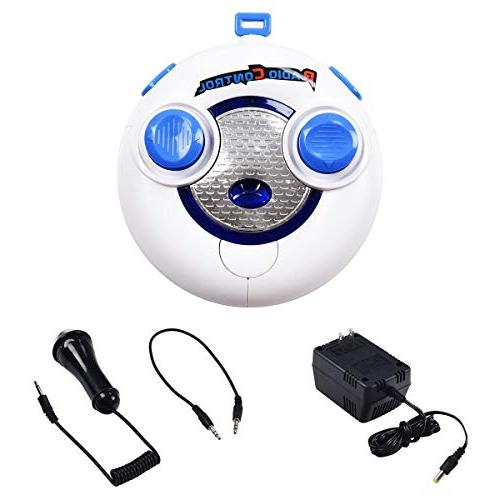 Costzon Car, Licensed 6V 2WD Manual/Parental Remote Control TF, Music, Kids