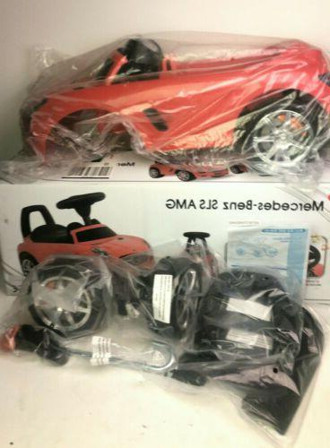 mercedes benz sls amg push car red