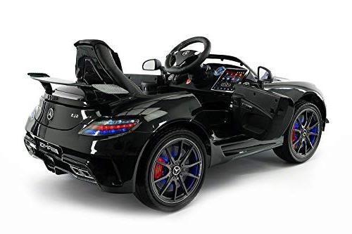 Mercedes Children Ride-On Battery Power LED Lights Seat LCD TV Music Player + Rubber Floor Mat
