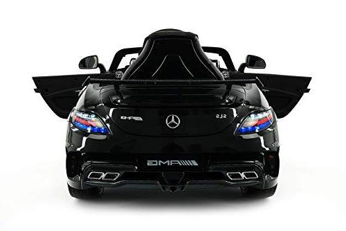 Mercedes SLS Children Ride-On R/C Remote Battery Power LED Lights Seat Belt + LCD Mat