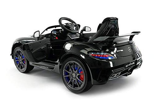 Mercedes Final Children Car R/C Parental Battery Power Lights 5 Seat Belt MP4 LCD TV Player + Rubber Mat