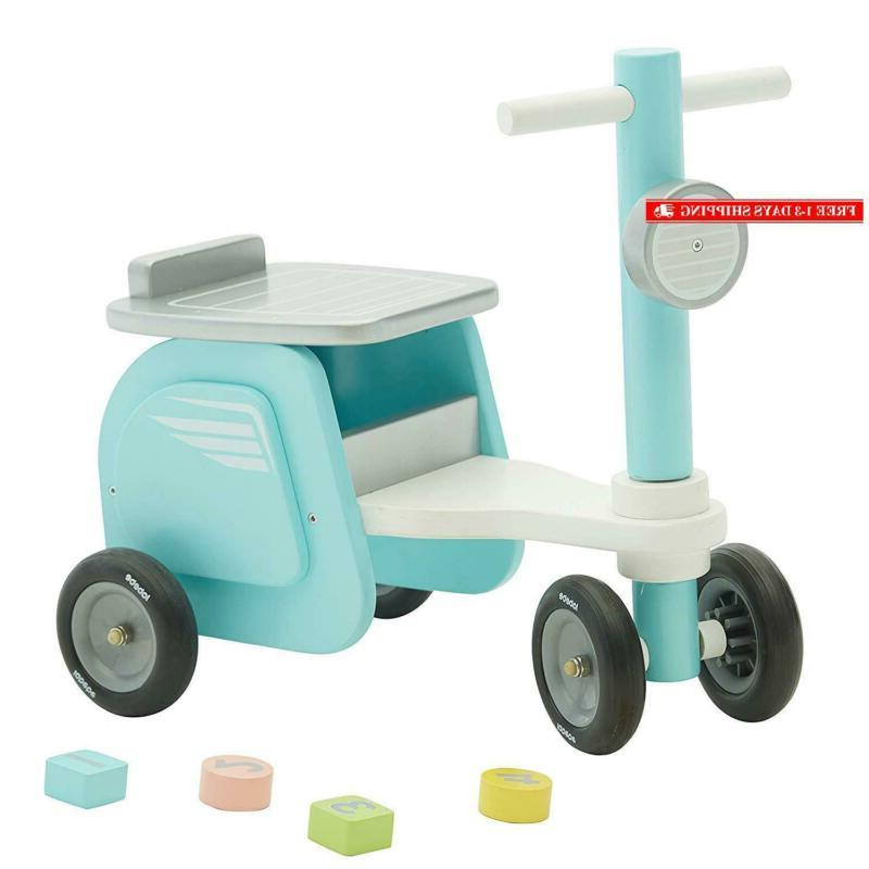 new blue ride on toy kid ride