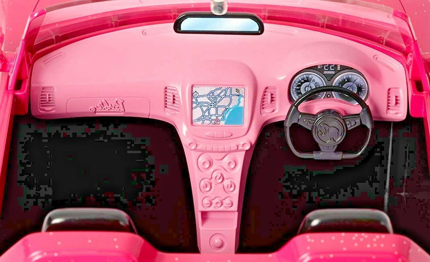 NEW Barbie Glam Convertible Doll Vehicle Two-Seater Pretend Play Car