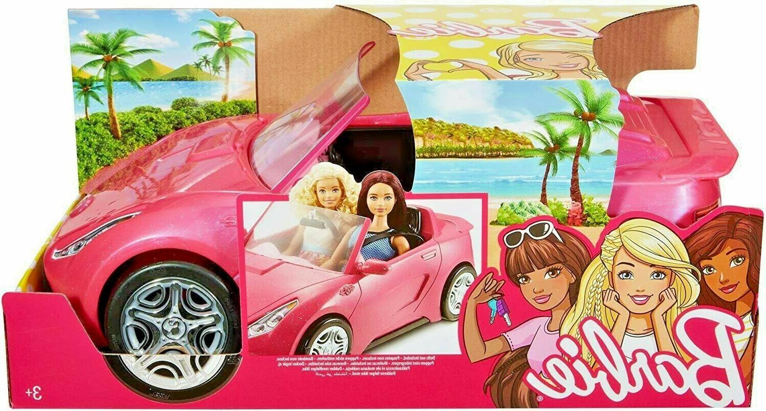 NEW Barbie Glam Convertible Doll Vehicle Pink Two-Seater Pre