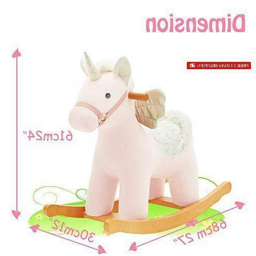 【New】 Labebe Ride Unicorn, Plush Horse Wo