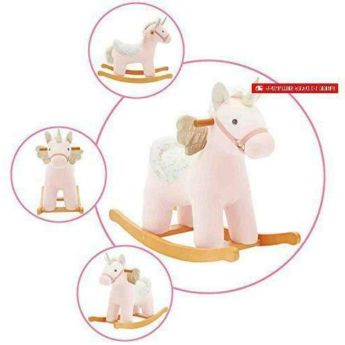 【New】 Ride Unicorn, Plush Rocking Horse Rocker