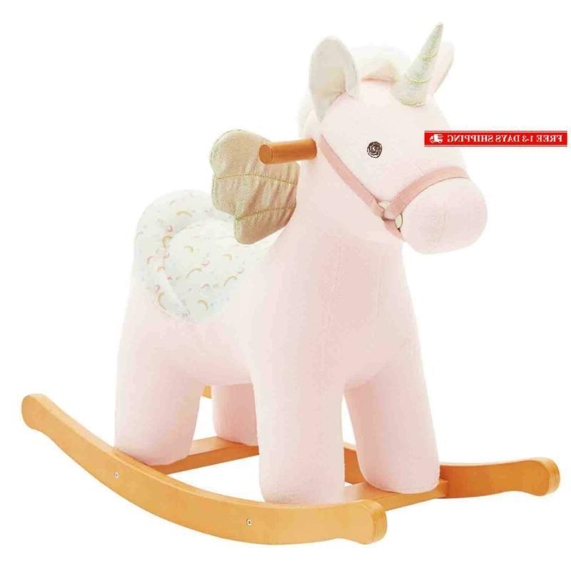new kid ride unicorn plush rocking horse