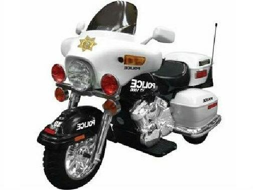 patrol h police 12v ride on motorcycle