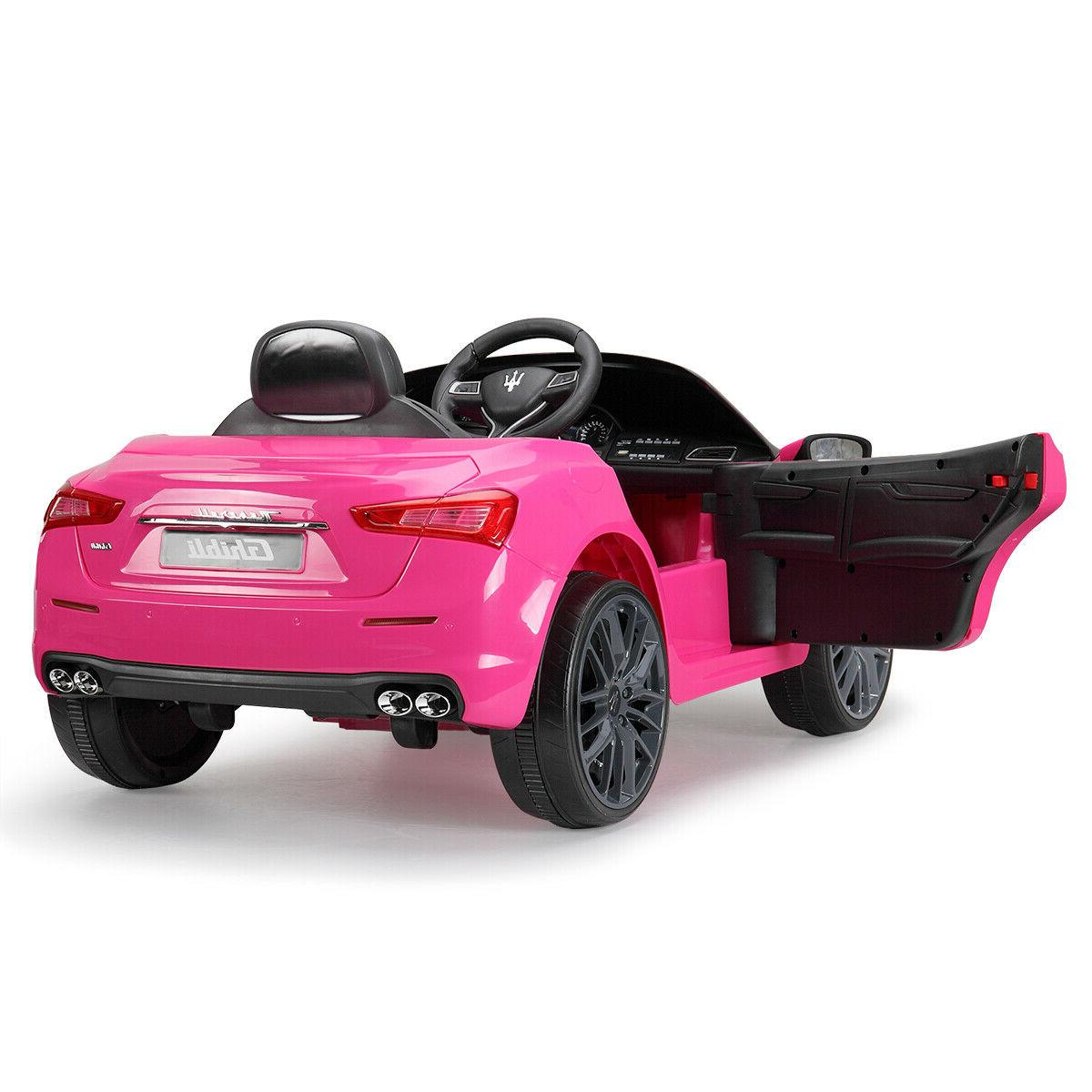 Pink 12V Kids Gif Ride Electric Remote Control