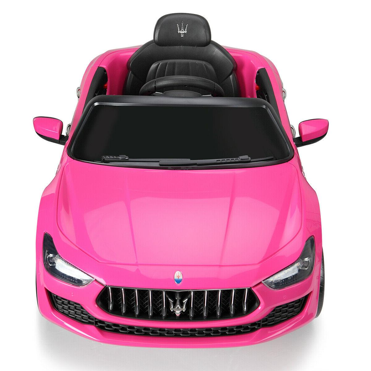 Pink 12V Maserati Kids Ride On Electric Remote