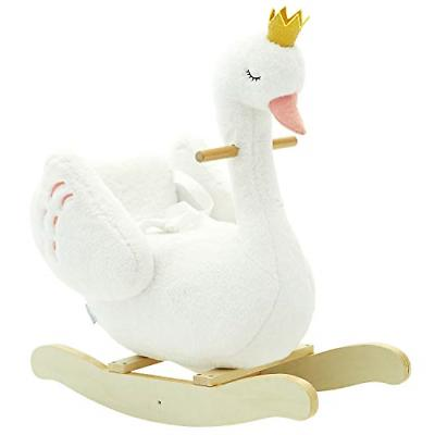labebe - Plush Rocking Horse Wooden, Swan Rocker, Baby Ridin
