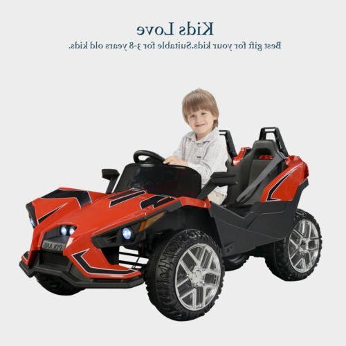 Polaris SlingShot Style 12V Kids Ride on Toy Cars Electric B