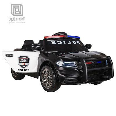 Police Pursuit 12V Electric Ride On Car Toys for Kids with 2