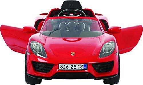 Rollplay 6 Volt Porsche 918 On Battery-Powered Kid's Car