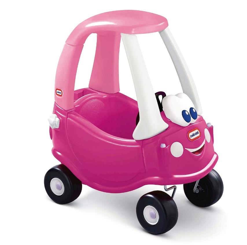 princess cozy coupe ride on dark pink