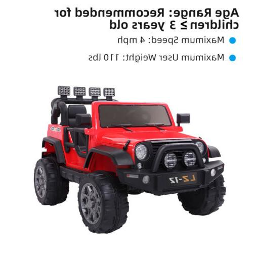 12V Ride Car Battery Power Safe Remote Control Red