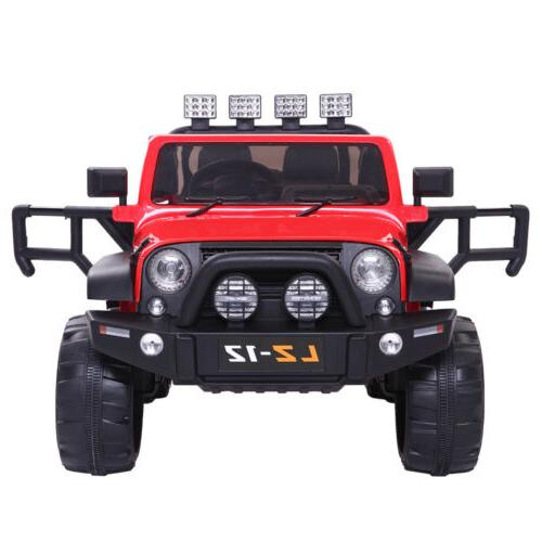 Red 12V On Toys Jeep Battery 3 Speed Remote Control Gift