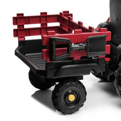 12V Kids On Tractor Car Electric Battery Music 2 with Trailer
