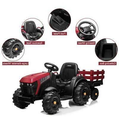 12V Kids Tractor Toys Battery with Trailer