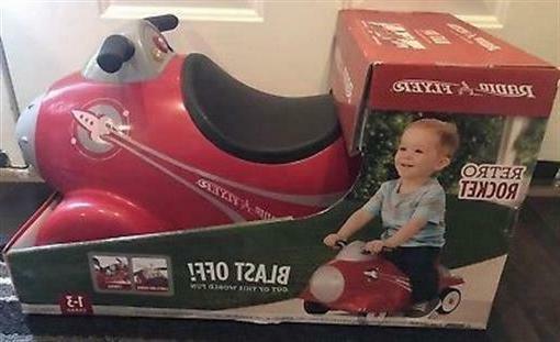 retro rocket vintage red ride