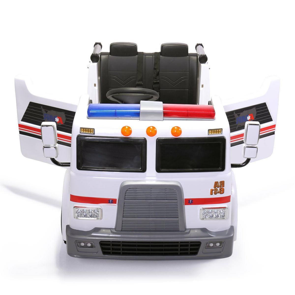 Ride Kids Ambulance Truck Electric Battery Powered Toy Vehicle