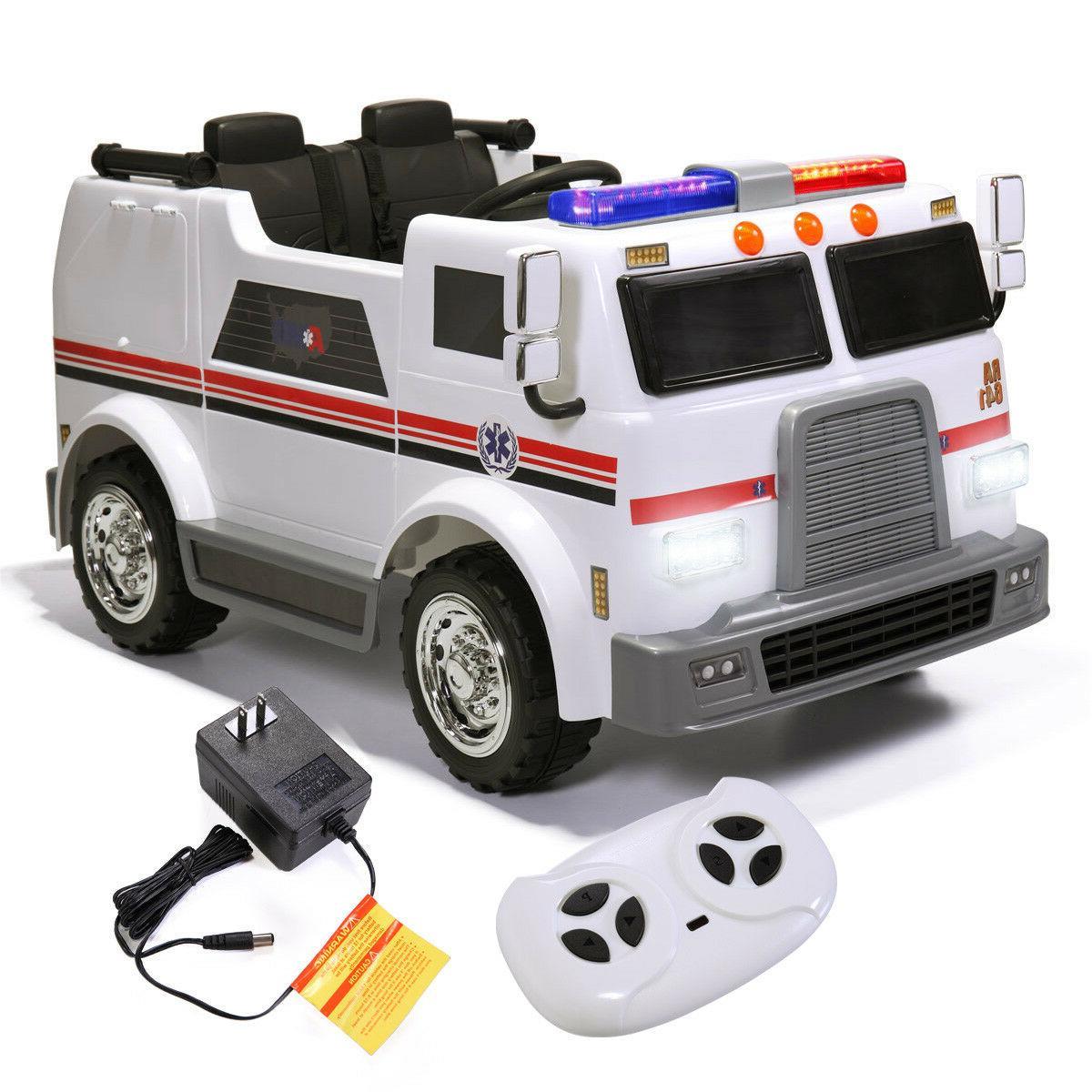 ride car kids ambulance truck electric 12v