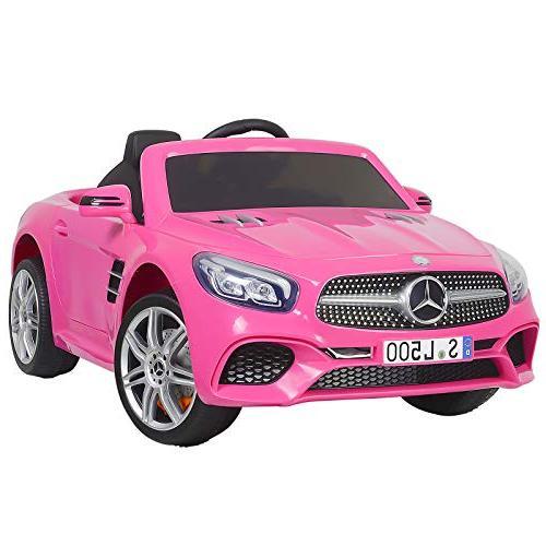 Uenjoy 12V Licensed Mercedes-Benz SL500 Kids Ride On