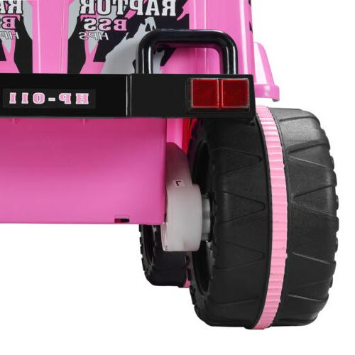 12V Cars Wheel Remote Control USB Pink