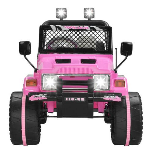 12V Kids Cars Wheel Control Pink