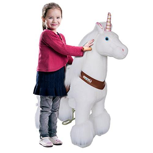 PonyCycle Horse Unicorn Battery No Mechanical White