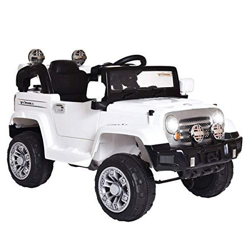 Jeep Style Battery Powered W/Remote White