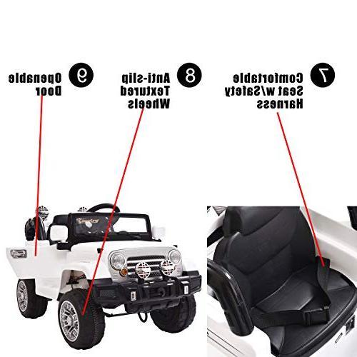 Jeep 12V Battery W/Remote White
