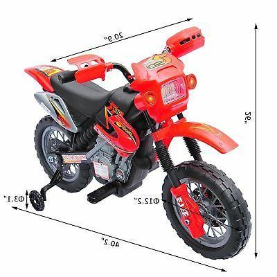 6V Kids Motorcycle Bike Toy w/ 4 Wheels