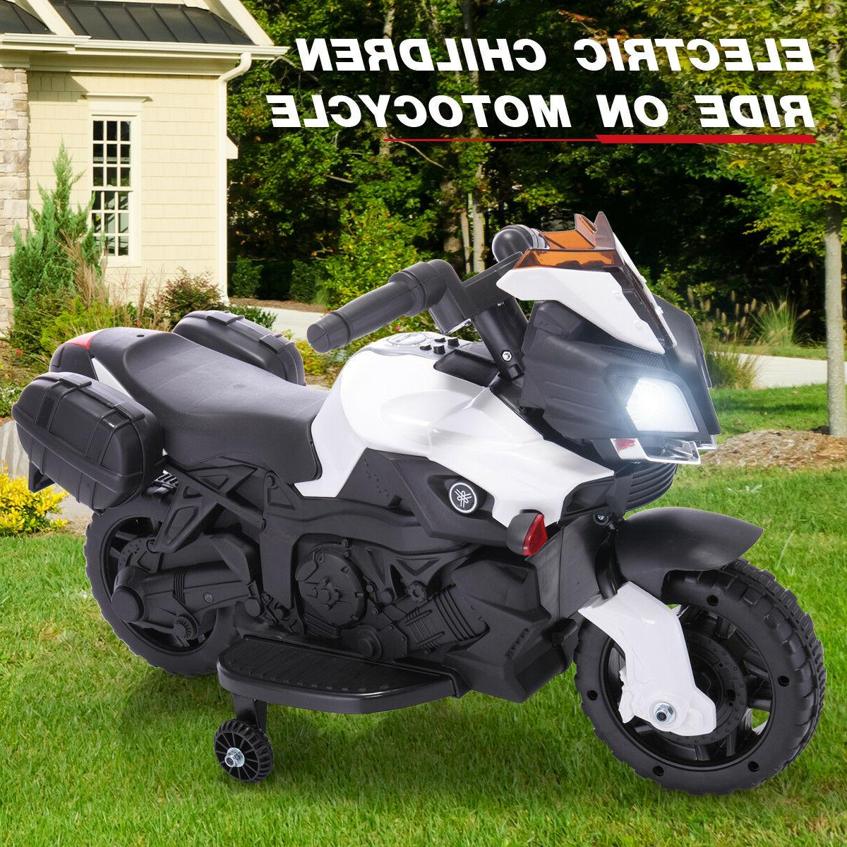 Kids Ride On Motorcycle 6V Battery Powered Bicycle Electric