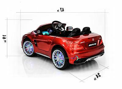 Kids Toys Mercedes Control LED wheels Red