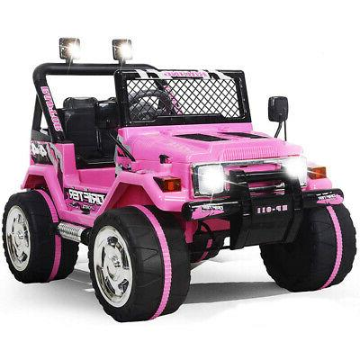 Ride Car Jeep 12V Battery Remote Control MP3 LED Light Pink