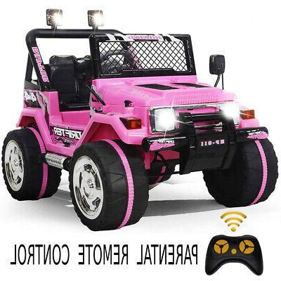 Ride On Jeep 12V Remote MP3 Light Pink
