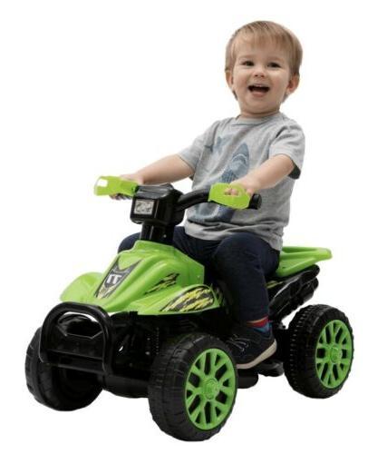 ride on green quad atv 6 volt