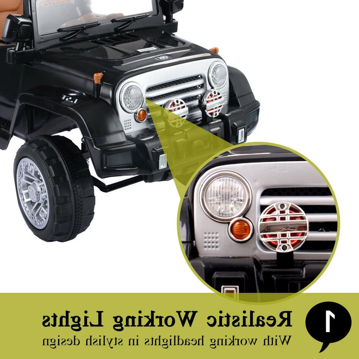 Ride Jeep Style Truck 12V Battery Toy 2 Remote Control
