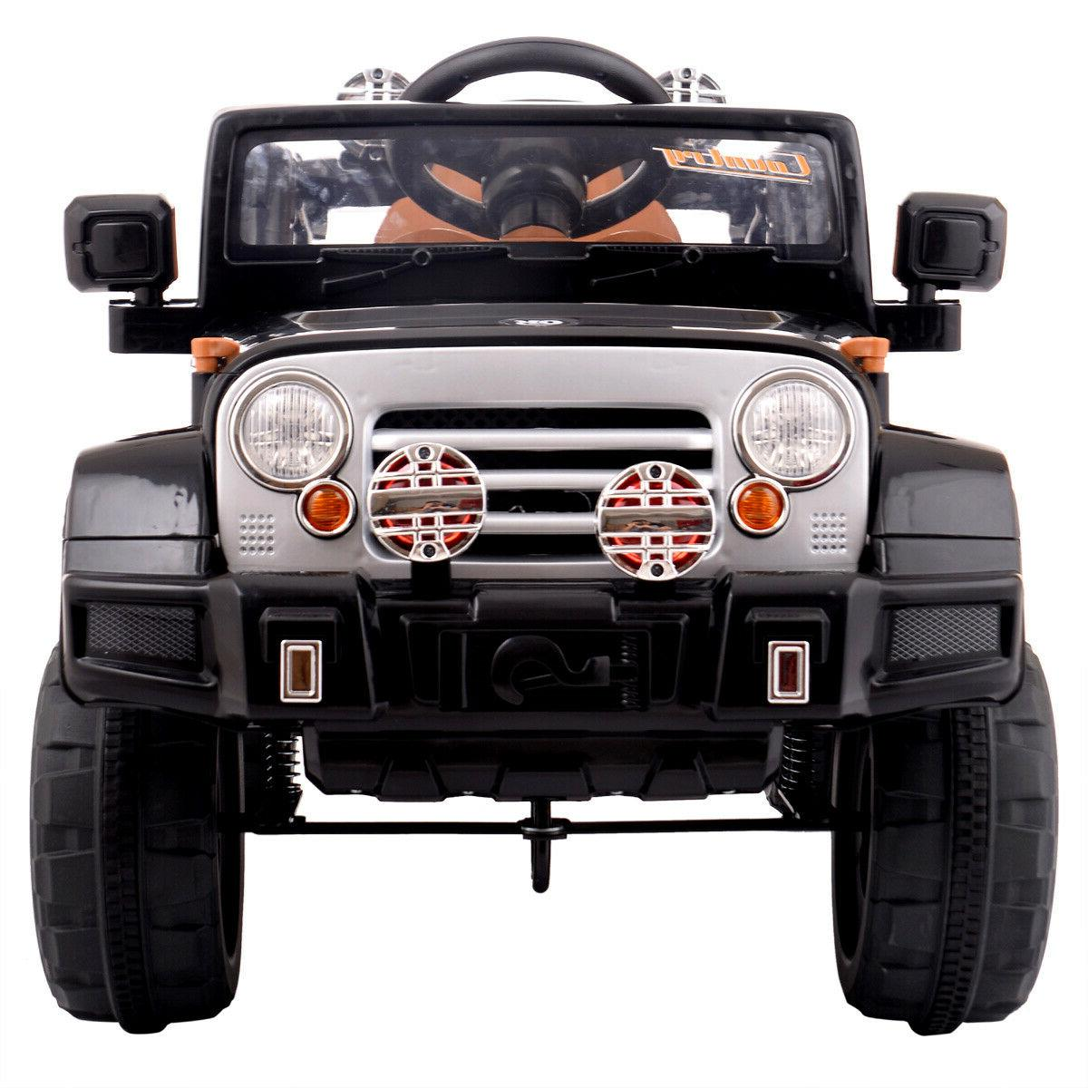 Ride Jeep Style Truck 12V Battery Powered Toy Vehicle 2 Remote