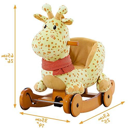 Labebe Plush, Fawn Stuffed, 2 Yellow Rocker wheel Kid Months, Horse/Rocker/Animal Ride/Deer Rocker